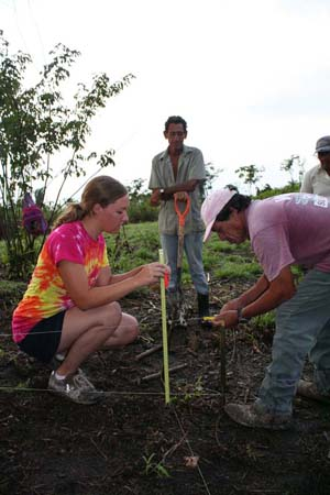 UAlbany archaeology student Sarah Kraft takes part in the Belize field school.