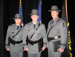 From left, officers Johanna Fitch, Aaron Cady, and Nicholas Sidoti.