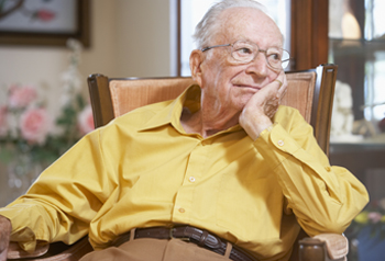 Elderly man seated