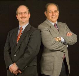 Associate Professor David Smith and Professor Hany Shawky, School of Business