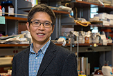 Jia Sheng, who won an NSF CAREER Award, in his lab.