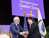 Sonia Sotomayor and UAlbany Interim President Jim Stellar.