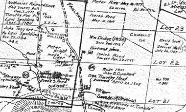 Historical land survey shows how land plots were divided.