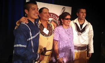 Miles and Lyle Thompson share 2014 Tewaaraton Trophy