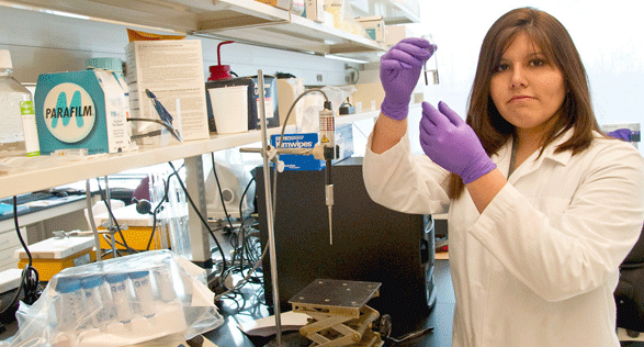 Karen Torrejon, '10, chemistry and physics major