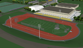 The new upgraded track & field venue, scheduled for winter 2013 completion