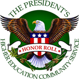 The President's 2012 Higher Education Community Service logo