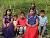 A Ngobe village family in the mountains of Costa Rica
