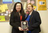 Shuang Liang with Dolores Cimini, Middle Earth Program Director