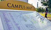 A campus map. (Photo by Paul Miller)
