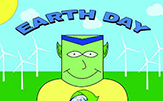 Family Earth Day ballons.