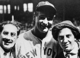 From Rob Edelman's new book, Lou Gehrig with Marx Brothers Groucho and Chico