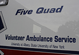Five Quad ambulance service. photo by Naomi McPeters