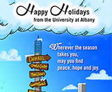 UAlbany's winning Holiday Card 2018