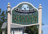 The welcome sign to the Village of Menands
