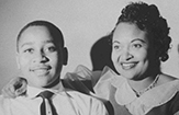 Emmett Till and his mother, Mamie.