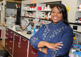 Chemist Rabi Musah in her UAlbany labs