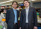 Chemists Jia Sheng and Max Royzen.