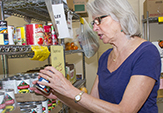 Volunteer Ruth Smith at St. Vincent's Food Pantry