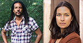 Colson Whitehead and Jhumpa Jahiri at the University at Albany Writers Institute
