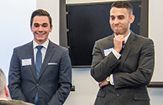 Youni co-founders pitch idea at 2016 UAlbany Blackstone Launchpad business competition.