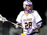UAlbany senior lacrosse player Brian Caufield