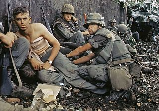 Wounded soldiers in Vietnam