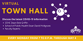 CEHC/SPH virtual town hall graphic.