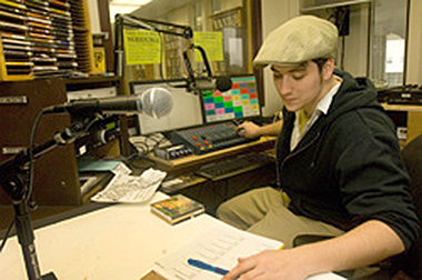Liam Murphy, a sophomore anthropology major from Binghamton, N.Y., is the events director for WCDB.