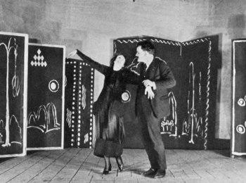Norma Millay and Harrison Dowd rehearsing Edna St. Vincent Millay's Aria da Capo, 1919.