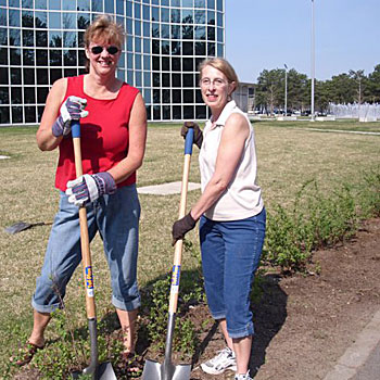 campus cleanup volunteers