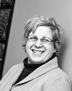 M. Dolores Cimini, assistant director of UAlbany's counseling center in a black and white photo