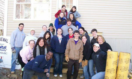 UAlbany Circle K students pitch in building a house for Habitat for Humanity