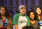 UAlbany and Albany High students sing together