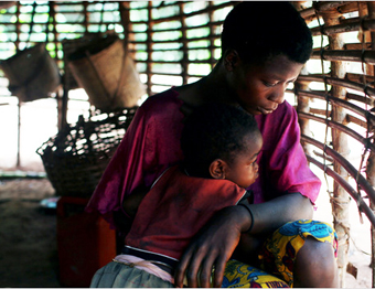 A mother and her child in war-torn Congo