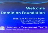 Sign welcoming Dominion Foundation