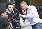 UAlbany's Paul Miller on location with Catskill High School students