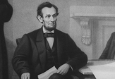 Abraham Lincoln at the signing of the Emancipation Proclamation