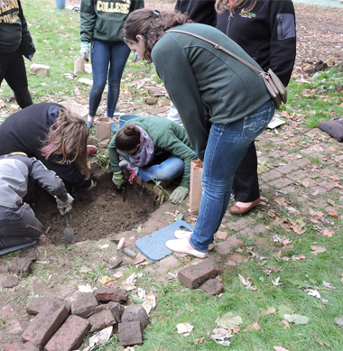 The field school will teach students how to lay out units, excavate, screen, map, record, and photograph archaeological features at the sites.
