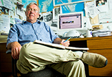 UAlbany scientist and researcher David R. Fitzjarrald in his office.