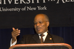 Jamaica's Governor General Kenneth O. Hall lectures on the Caribbean and the global economy