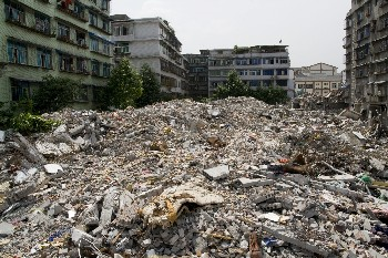 Earthquake ravaged province of Sichuan in China