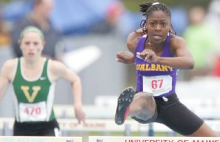 UAlbany indoor track athlete Kamilah McShine