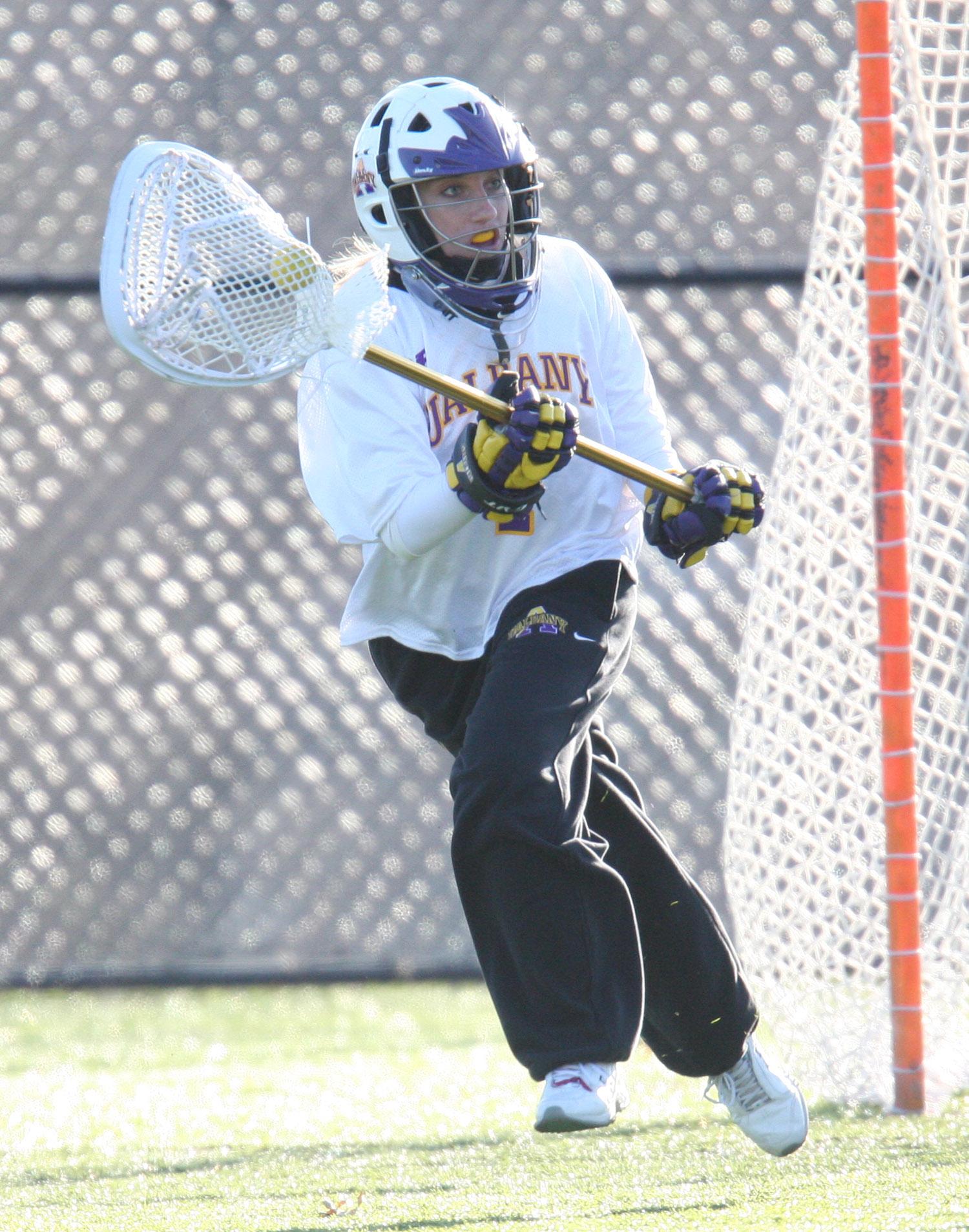 Women's lacrosse player Katie Neer
