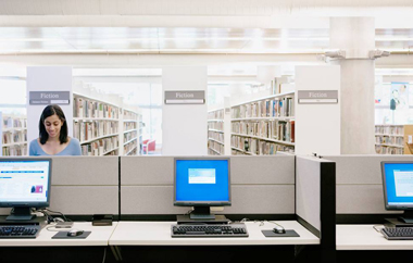 Libraries are one of the places where citizens without broadband access at home can use the Internet.