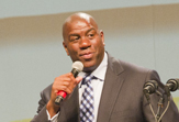 Magic Johnson at UAlbany