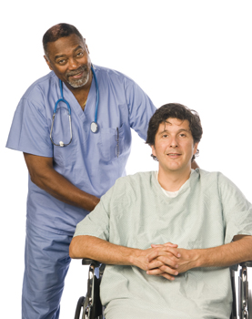 male nurse and patient