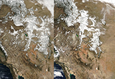 Snow cover changing in the Rockies