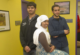 Three officers of UAlbany's Muslim Student Association