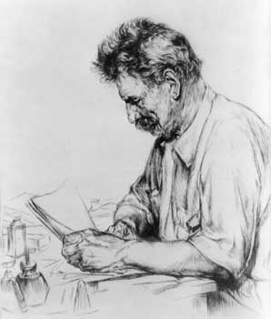 Etching of Albert Schweitzer